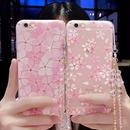 【SI031】★ iPhone 7 / 7Plus ★ クリア ケース ( 2パターン ) きらきら ストーン サクラ 花びら おしゃれ かわいい キレイ 大人 シンプル 人気 おすすめ