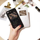 [NW418]  ★ iPhone 6 / 6s / 6Plus / 6sPlus / 7 / 7Plus  / 8 / 8Plus ★ シェルカバー ケース 英字 プレート スタッズ ラメ