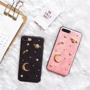 [MD074] ★ iPhone 6 / 6s / 6Plus / 6sPlus / 7 / 7Plus / 8 / 8Plus / X ★ シェルカバー ケース 月 星 宇宙 可愛い