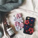 【AO135】★ iPhone6 / 6Plus / 6s / 6sPlus / 7 / 7Plus ★ ハンドメイド 毛糸の花付 iPhoneケース