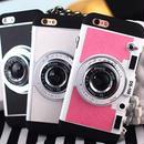 【AO041】★ iPhone6 / 6Plus / 6s / 6sPlus / 7 / 7Plus ★ キュートなカメラ型 iPhoneケース ブラック ホワイト おしゃれ