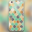 【HY018】★   iPhone SE iPhone 5 iPhone 6 / 6 plus ★ iPhoneケース ( ミント ) モロッカン おしゃれ かわいい  キレイ 大人 シンプル