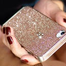 【TH037】★ iPhone 5 / 5s ★ カラー グリッター アルミ ケース 6色 ( グレー レッド スカイブルー ピンク シルバー イエロー ) ゴージャス おしゃれ かわいい きらきら