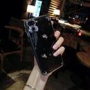 [KS178] ★ iPhone 6 / 6Plus / 7 / 7Plus ★シェル型 ケース リボン レッド きらきら ビジュー ブラック ハート 上品 iPhone ケース