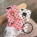 [KS114] ★ iPhone 6 / 6Plus / 7 / 7Plus ★ シェル型 ケース ブラック ピンク パープル ホワイト ベージュ ハート リング シンプル   iPhone ケース