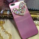 【EU031】★ iPhone6 ★ スパークルハート ハードケース (ピンク)ゴージャス きれい 大人 かわいい キュート