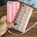 [KS152] ★ iPhone 6 / 6Plus / 7 / 7Plus ★シェル型 ケース ピンク ローズ クリア ブラック ぷにぷに 3D 立体 スター 星 iPhone ケース