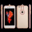 [KS080] ★ iPhone 6 / 6Plus / 7 / 7Plus ★ シェル型 ケース ラインストーン バンパー  多機能 リングスタンド ゴージャス きらきら きれい