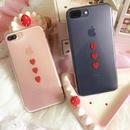 【SI012】★ iPhone 6 / 6s / 6Plus / 6sPlus / 7 / 7Plus ★ クリア ケース 3連 ハート おしゃれ かわいい 大人 シンプル 人気 おすすめ