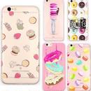 【HY031】★ iPhone 6 / iPhone 6 plus ★  ソフトケース  ピンク スイーツ ハンバーガー おしゃれ 大人 シンプル カラフル かわいい
