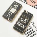 【AO125】★ iPhone6 / 6Plus / 6s / 6sPlus / 7 / 7Plus ★ アメリカ ルート66 ナンバープレート型 iPhoneケース