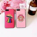 [MD047] ★ iPhone 6 / 6s / 6Plus / 6sPlus / 7 / 7Plus / 8 / 8Plus ★ シェルカバー ケース ピンク 可愛い 刺繍 夢かわいい