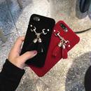 [KS196] ★ iPhone 6 / 6Plus / 7 / 7Plus ★シェル型 ケース ブラック レッド 大人っぽい タッセル デザイン シック スエード調 iPhone ケース