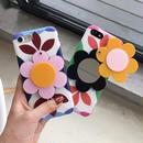 [KS176] ★ iPhone 6 / 6Plus / 7 / 7Plus ★シェル型 ケース カラフル フラワー スライド ミラー モダン iPhone ケース
