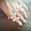 3pearl line ring