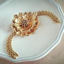 vintage flower bracelet  bijou