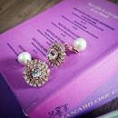 bijou round earring