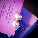 bijou earring (back pearl) 1