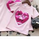 新色☺︎kids★リバーシブルスパンコールデザイン【カラーが変わる】Tシャツ★ピンク