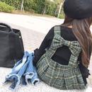 ☺︎kids☻バックリボンデザインワンピース+トップスセット【グリーン】