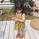 ☺︎kids☆小花柄デザインワンピース【イエロー】