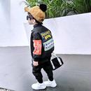 ★kidsユニセックス☻バックデザイン裏ボアMA-1【ブラック】