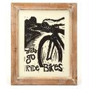 ハンドプリント・ウッドカット レッツゴーライドバイク
