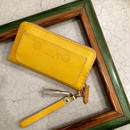 Balarm -Leather Long Wallet / Yellow