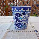 cup-30  手描きのトルコ・キュタフヤ陶器カップ(カーネーション&チューリップ)