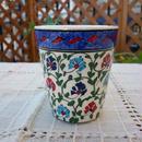 cup-32  手描きのトルコ・キュタフヤ陶器カップ(カーネーション)