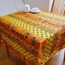 pv022-150           プロヴァンス テーブルクロス 正方形150×150(ひまわりとオリーブ・オレンジ&イエロー)