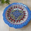 plate18-a2  ★繊細な手描きのトルコ・キュタフヤ陶器(プレート18cm)