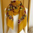 turcl3   繊維の宝庫トルコのふわっと軽いコットンスカーフ(マスタード)L