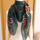 turcl8   繊維の宝庫トルコのふわっと軽いコットンスカーフ(ボトルグリーン)L