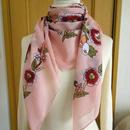 turcl2   繊維の宝庫トルコのふわっと軽いコットンスカーフ(コーラルピンク)L