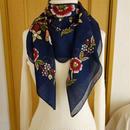 turcl12   繊維の宝庫トルコのふわっと軽いコットンスカーフ(インディゴ)L