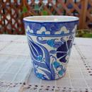 cup-33  手描きのトルコ・キュタフヤ陶器カップ(チューリップ&カーネーション)