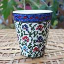 cup-8  手描きのトルコ・キュタフヤ陶器カップ(カーネーション)