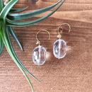 14KGF Sun Shower Crystal Short Earrings
