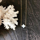14KGF White Flower  Shell Necklace