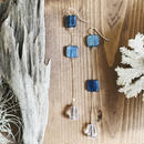 14KGF Kyanite & Crystal Asymmetry Line Earrings