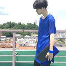 rood  mesh T blue