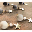 【032】天然石と星のイヤリング