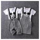 【予約】Tee+ストライプパンツorストライプスカート(90-130cm)