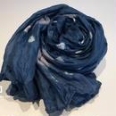 ソウタカンボジアシルク カンボジアシルクスカーフ シルクスカーフ スカーフ 手織りスカーフ ブルー 絞り染め ファッション アジアンショップ アジアン雑貨
