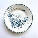 [Gien] 花と虫の絵皿   (PL31)  1枚