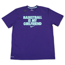 "【日本未発売】NIKE ""BASKETBALL IS MY GIRLFRIEND"" T-Shirts (Purple / Aqua blue)"