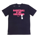 "【日本未発売】NIKE ""BASKETBALL IS MY GIRLFRIEND"" T-Shirts (Dark Navy / Pink)"