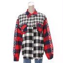 パッチワークチェックシャツ