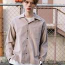 コーデュロイオープンカラーシャツ【ベージュ】 L-93
